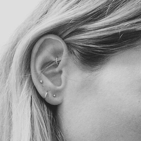 Tiny Gold Hoop Earrings Gold Hoop Earring by JCoJewellery on Etsy