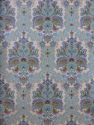 vintage medaillon behang blauw groen oranje