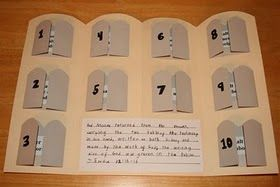 10 Commandments craft so kids can learn all 10 Commandments in order