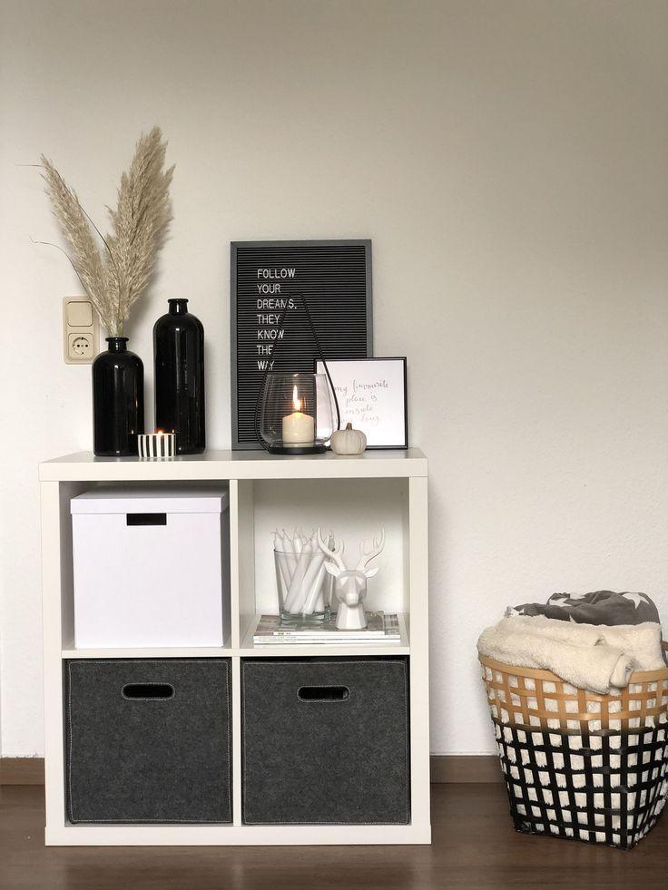 Deko Ideen in 2020 (mit Bildern)   Wohnzimmer regal, Ikea ...