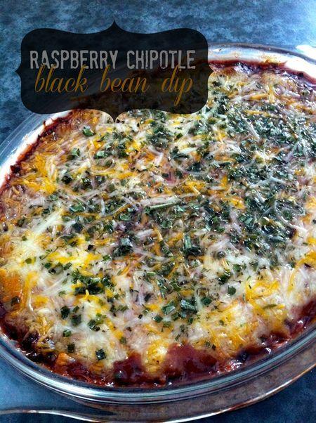 Raspberry Chipotle Black Bean Dip - mmm