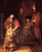The Return of the Prodigal Son c. 1669  by Rembrandt Van Rijn