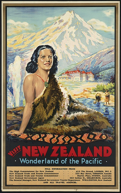 Visit New Zealand. Wonderland of the Pacific by Boston Public Library, via Flickr