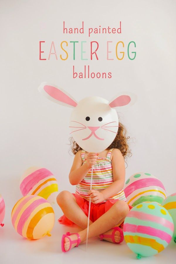Hand Painted Easter Egg Balloons: fun for egg hunt event