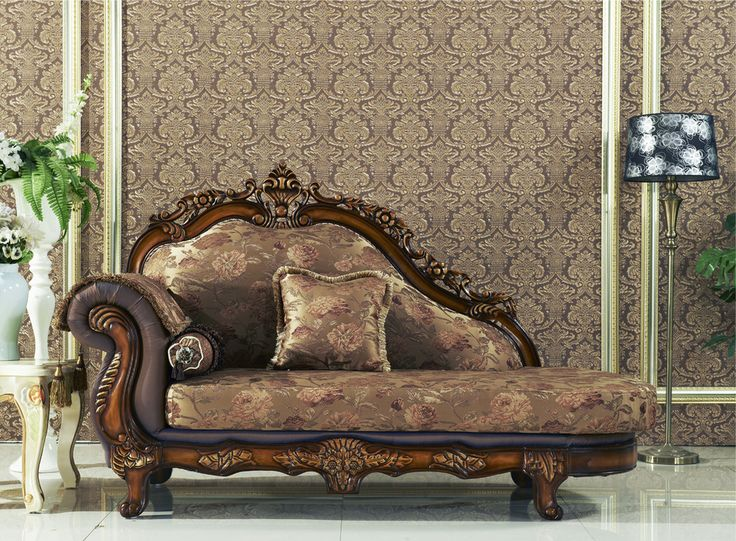 Seville-Victorian-Golden-Beige-Chaise-With-Cherry-Finished-Floral-Wood-Carvings
