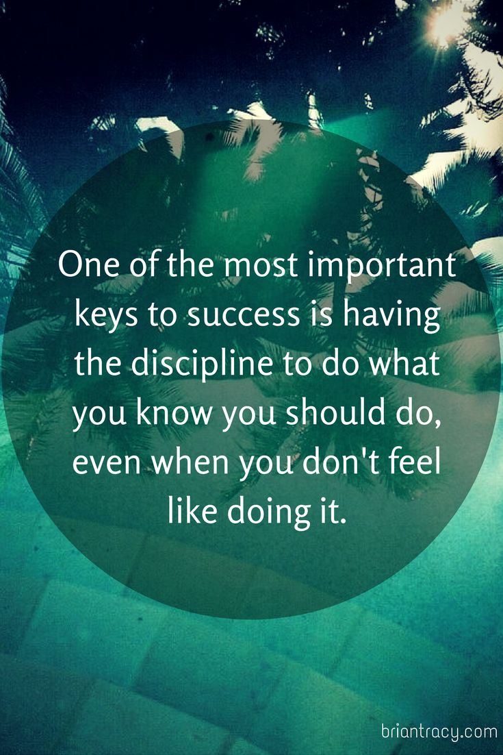 ONE of the MOST IMPORTANT KEYS to SUCCESS is Having the DISCIPLINE to Do WHAT You KNOW You SHOULD DO, Even When You DON'T FEEL LIKE DOING IT...  And Even When I DON'T FEEL LIKE IT.... I STILL DO IT, JUST TO MAKE IT HAPPEN And KEEP THE DISCIPLINE IN SUCCESS, the Most IMPORTANT! Quote by Gerard the Gman in NJ!!