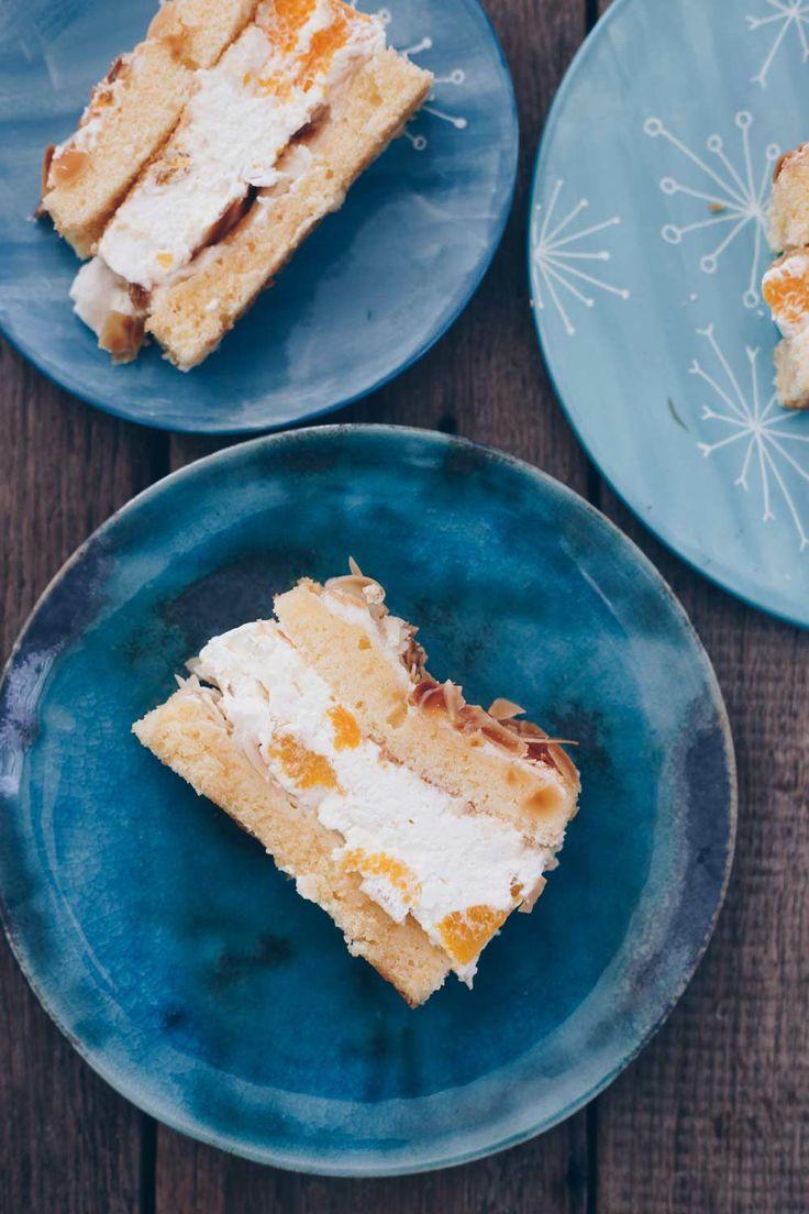 Backen Mandarinen-Baiser-Torte – Kuchenrezept mit Baiser-Schicht und Mandarinen …   – Mmmmmhhh