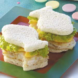 Fishie shaped sandwiches