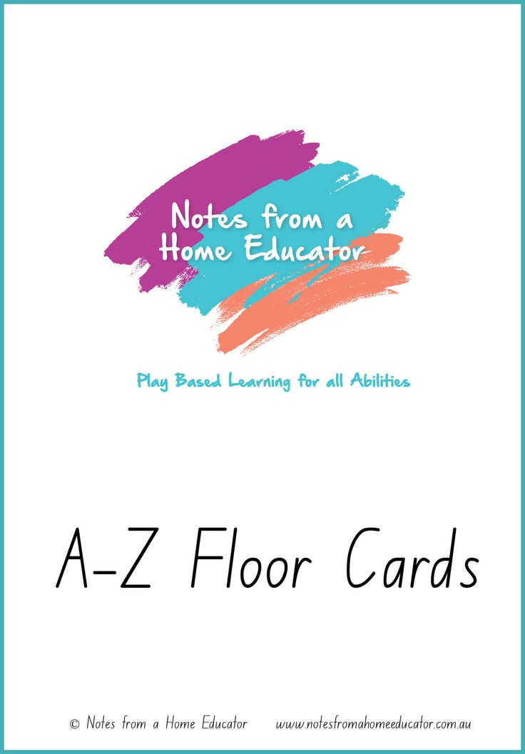 A-Z Floor Cards Printable – Notes From a Home Educator