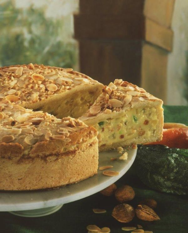 almond and rikotta tart