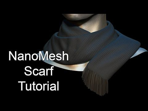 NanoMesh Scarf Tutorial - zBrush - YouTube