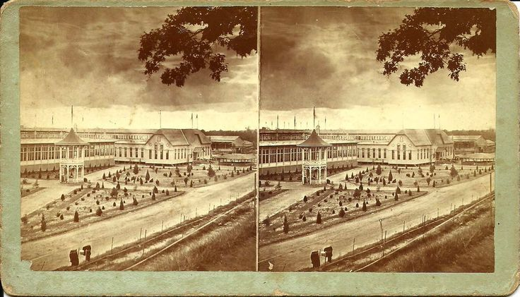 *RARE* 1881 ATLANTA GEORGIA INTERNATIONAL COTTON EXPOSITION STEREOVIEW