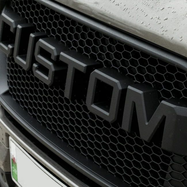 Transit Custom Front Grille Custom Matte Black Styling New Shape