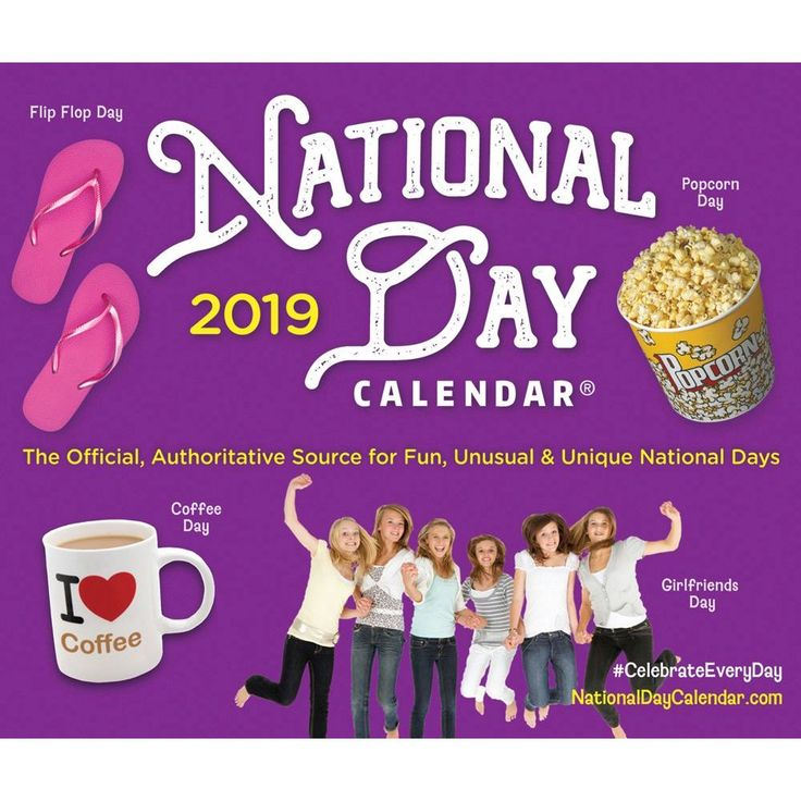 National Day 2019 Desk Calendar-Calendars.com-Books