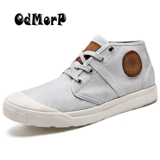 Check it on our site New Men's Canvas Shoes Spring Fashion Design Shoes Ankle Boots Men Shoes Casual Botas Masculina Size 38-44 just only $27.99 with free shipping worldwide  #menshoes Plese click on picture to see our special price for you