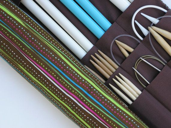 how to make a knitting needle case