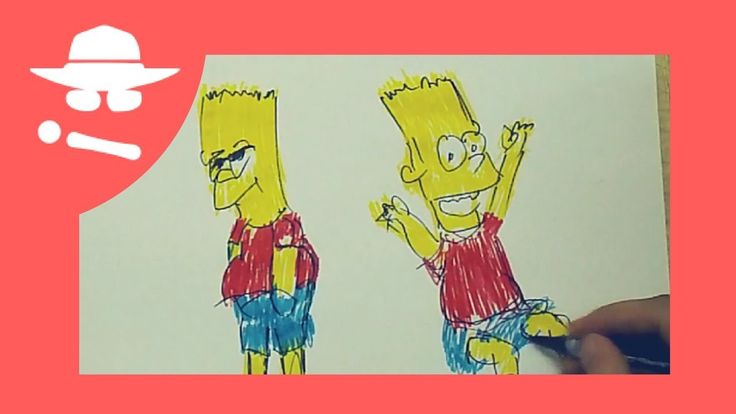 Bart SIMPSON Cartoon Drawing For Kids