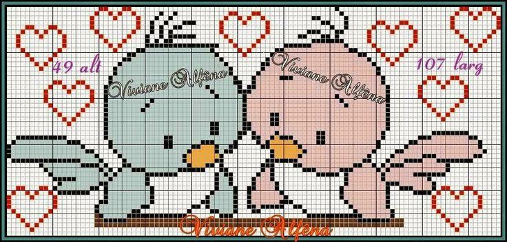 """Λεπτό Corner: Charts Cross Stitch """"Birds"""""""