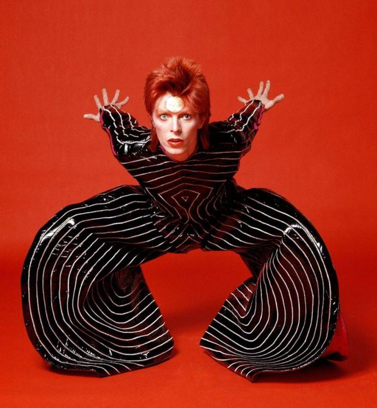 david bowie wearing 'tokyo pop' bodysuit designed by yamamoto kansai for the aladdin sane tour - 1973