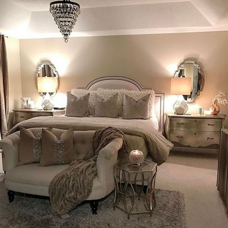 glam feminine bedroom 15 Gorgeous Classic Feminine Glam Bedroom Ideas   Bedroom Ideas   Bedroom decor, Master Bedroom