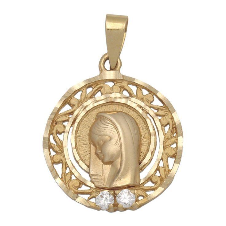 #Medalla Oro 18 Kl. redonda Virgen Niña 19 Mm. : Joyeria online | joyeria plata | joyeria de plata Medalla realizada en Oro de 18 Kl. tiene forma redonda y lleva el cerco calado, también va decorada con Circonitas. Es una joya singular, perfecta si quieres hacer un regalo especial a una niña que va a tomar su Primera Comunión.  ¡Decídete ahora y podrás tener esta especial Medalla para Comunión Virgen Niña en Oro de 18 Kl. con Circonitas!  Medidas: 19 Mm. de diámetro  No incluye cadena.