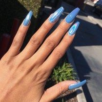Color Nails Solid Acrylic Tumblr Ideas 2018 Summer