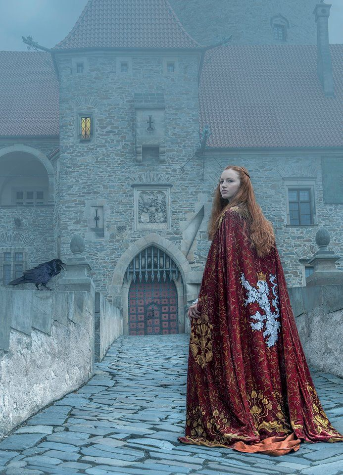 """m-e-d-i-e-v-a-l-d-r-e-a-m-s: """" """" By Baba Studio Photography: Alex Ukolov Styling: Karen Mahony Medieval Dreams """" Lady Sansa in her marriage cloak to Tyrion Lannister """""""