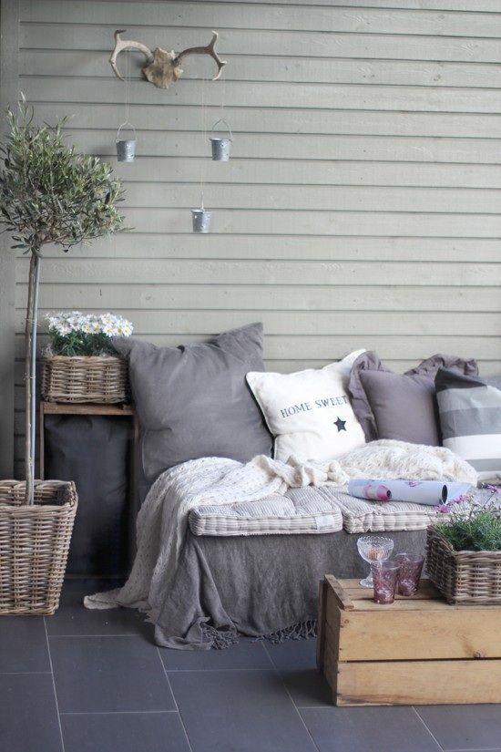 diy pallet sofa for cheap outdoor patio furniture kinda like the antler idea too