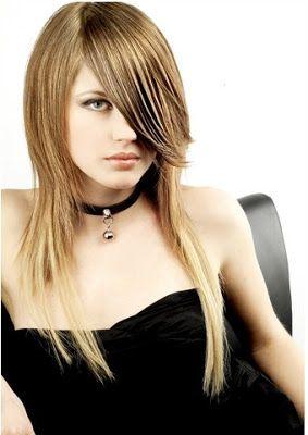peinados a la moda cortes de pelo largo en capas para el
