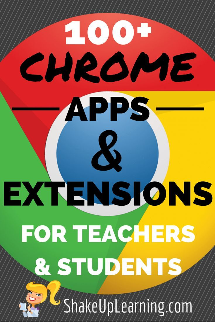 100+ Chrome Apps and Extensions for Teachers and Students! I have put together a Google Chrome App and Extension Database for Teachers (also at the bottom of this post) that is loaded with apps and extensions for productivity and classroom integration.
