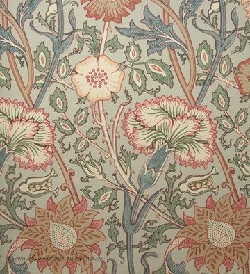 Pink & Rose tapeter från William Morris® (WM156-03) hos Engelska Tapetmagasinet. ✓ Beställ fraktfritt online ✓ Snabb leverans