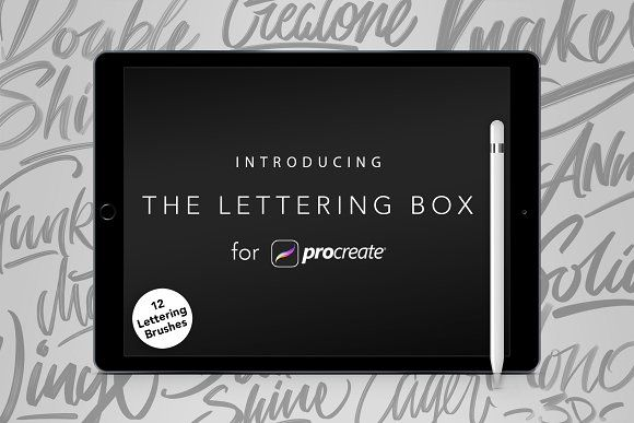 Lettering Box - Procreate Brush set by Angelo Konofaos on @creativemarket