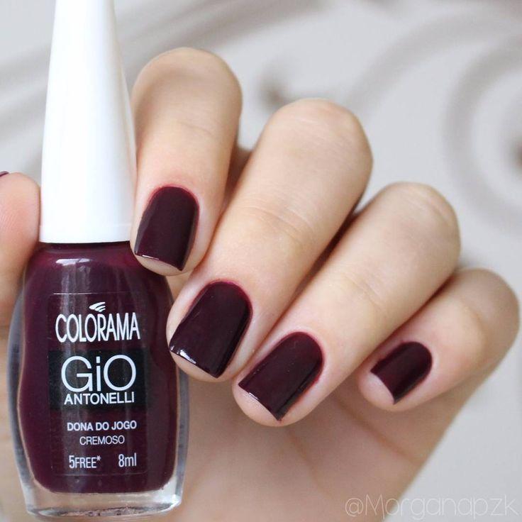 """Morgana Piazenski no Instagram: """"""""Dona do jogo"""" da @esmaltecolorama  Gostaram?? ℹ 2 camadas. ℹ Sem top coat/extra brilho. #NailsMorganaPZK #PoderdaCor #coloramadasemana…"""""""