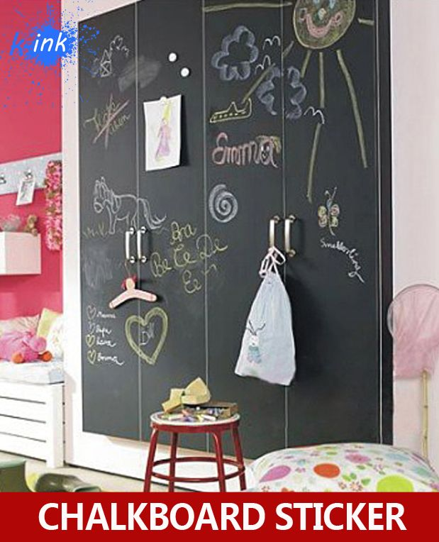 5pcs/lot Removable Blackboard Sticker , Vinyl Chalkboard Wall Sticker for kids painting , teaching
