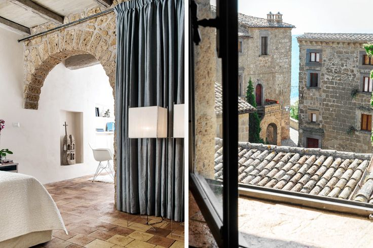 This modern-rustic 14th Century palazzo, sleeping up to 8 + 1, on the Tuscany-Lazio border is utterly unique, set on a series of caves converted into a private swimming pool, hot tub, art gallery and wine cellar