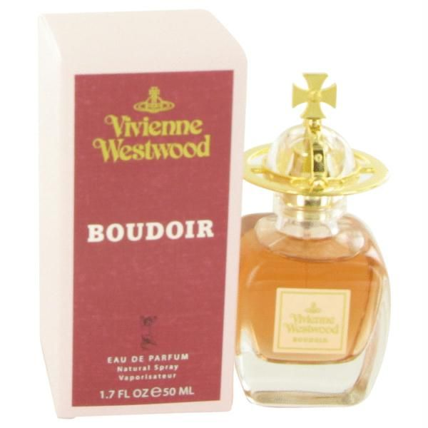 BOUDOIR by Vivienne Westwood Eau De Parfum Spray 1.7 oz Launched by the design house of Vivienne Westwood in 1998, BOUDOIR is classified as a refined, oriental, floral fragrance. This feminine scent possesses a blend of classic oriental and floral scent. It is recommended for evening wear.
