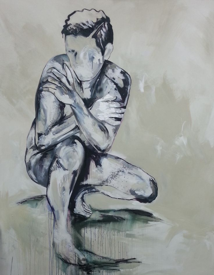 www.creatingmadness.com.au  Emotional Shutdown  acrylic ,oil stick, charcoal and spray on canvas 2014