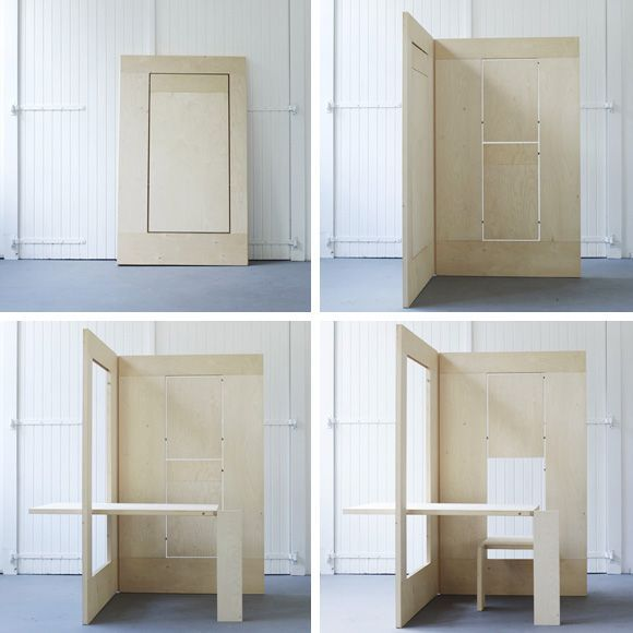 FLKS a flexible workplace: beautiful idea for artist's studio/desk. Design by Kapteinbolt.
