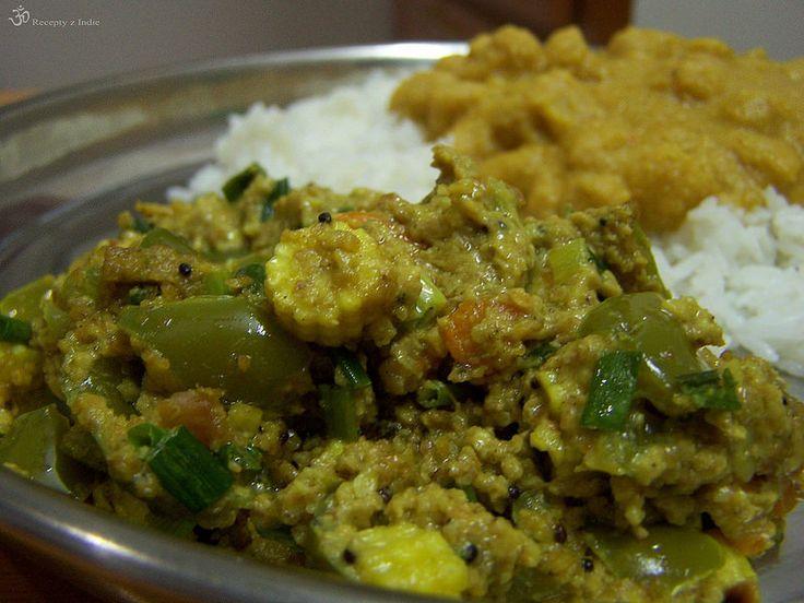 Recepty z Indie: Zelenina s arašidami
