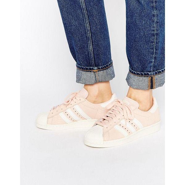 adidas Originals - Superstar 80's - Sneakers in gehauchtem Rosa - Rosa