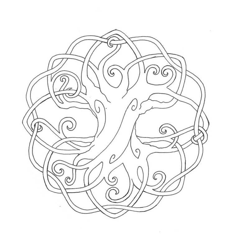 celtic tree of life cross printablecoloringbooktree
