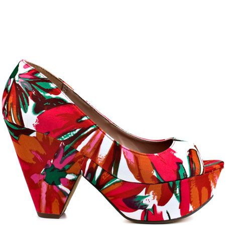 Alura - Red Floral Print by Michael Antonio