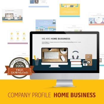 Weekly Free Download Company Profile - Home Business This is an item for your home company profile. There are 10 attractive pages you need to present your business. professional make your business by using a template that's full identity.