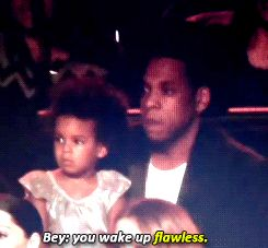 And when he was straight up amazed when she started doing the dance routine during Beyoncé's performance. | 43 Times Celebrity Dads Made You Wish They'd Father Your Children