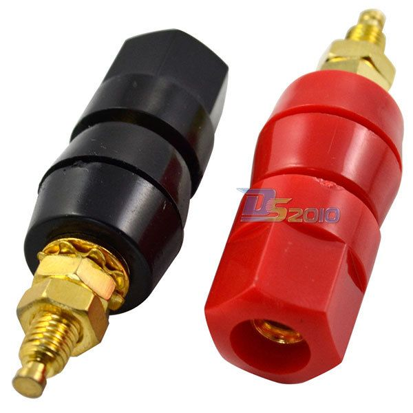1 Pair Amplifier Terminal Binding Post Banana Plug Jack Adaptor Connector