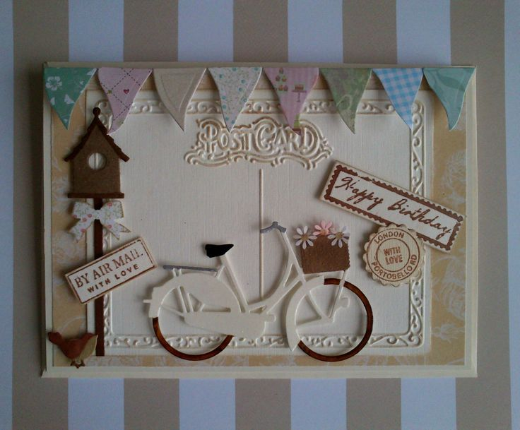 Vintage style bicycle card
