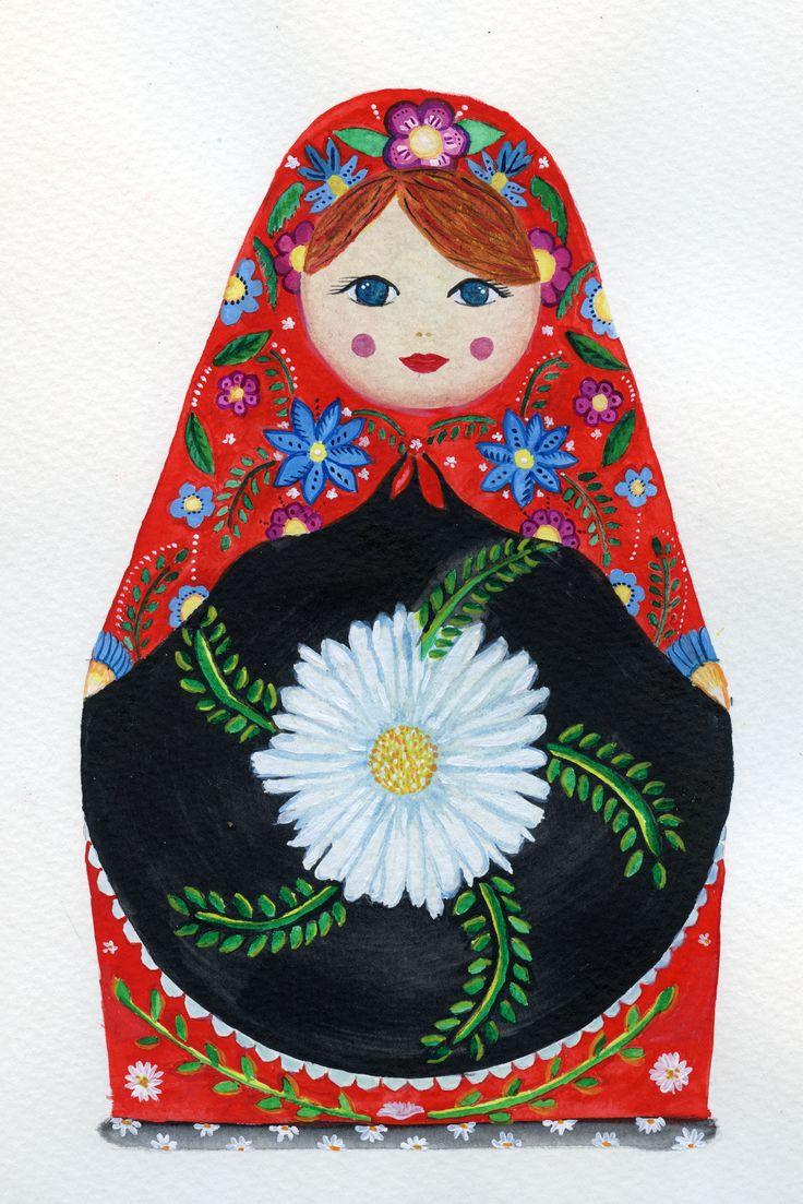 #matrioska #russiandoll #rusia #doll #flower #tradition