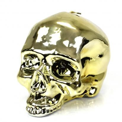 "D.L. & CO.  Part of D.L & Co.'s ""Momento Mori"" Collection. Memento Mori is a Latin Phrase that when translated states ""remember that you are mortal.""  Finished in a high shine metallic giving an ultra contemporary look."