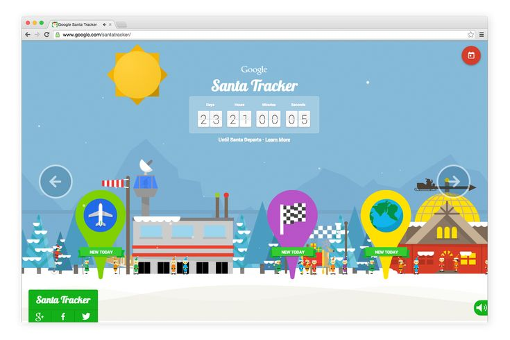 Google Launches Its 2014 Santa Tracker With Seasonal Games and a Countdown to Christmas Eve