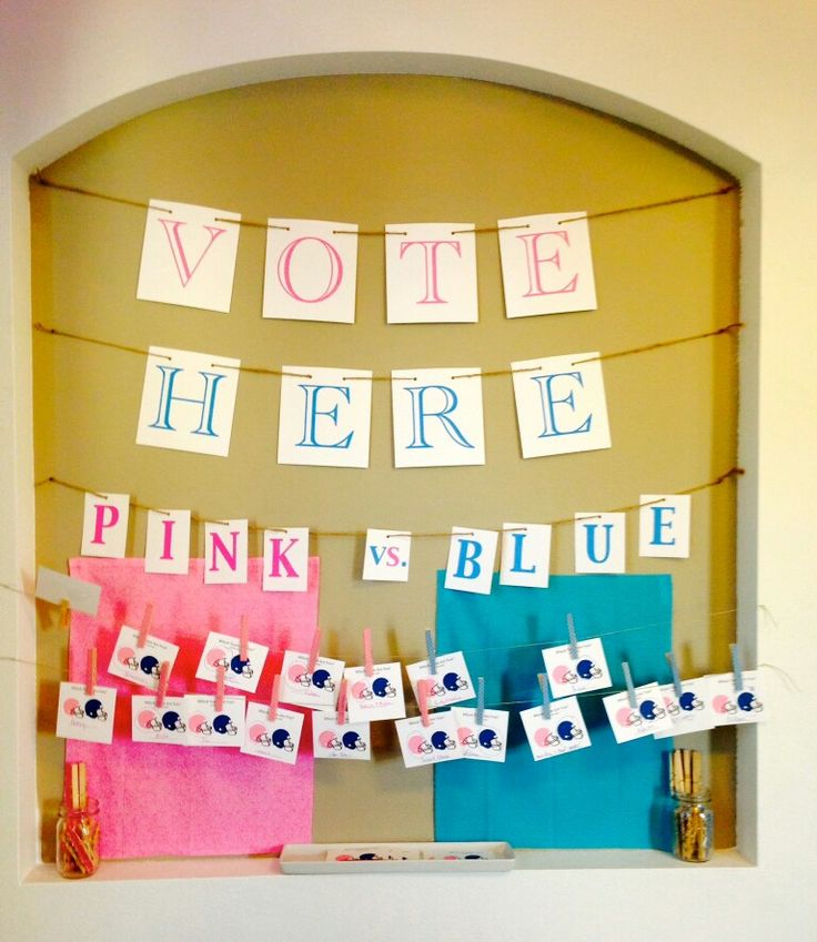 Main pin picture for the gender voting station. Not banners though just a sign.